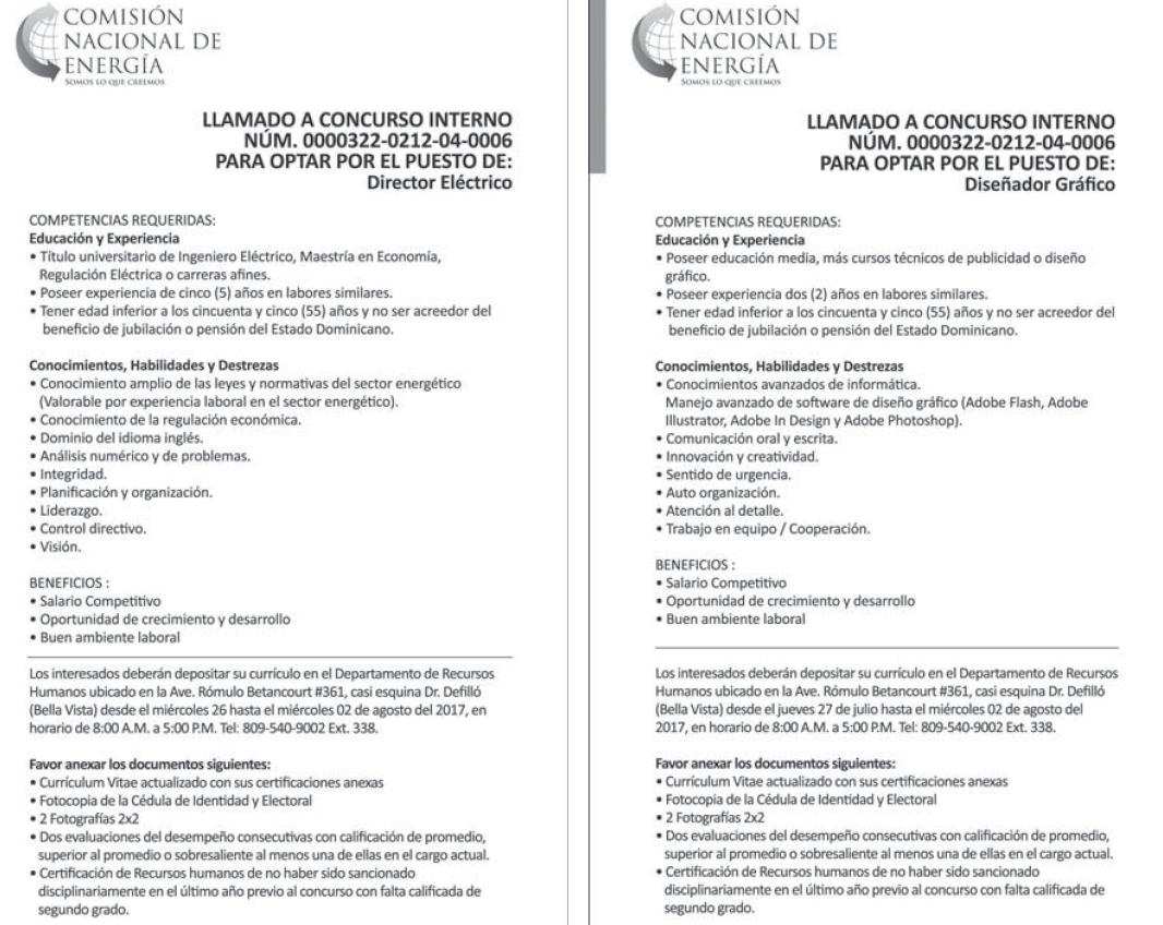 Comisión Nacional de Energía con Vacantes | desemplead2