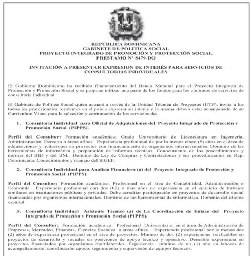 Gobierno Dominicano Con Vacantes Hasta El 17 Enero Desemplead2